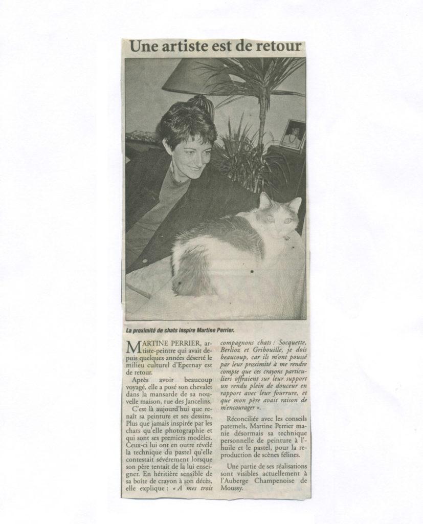 Une artiste est de retour - Exposition à l'Auberge champenoise à Moussy