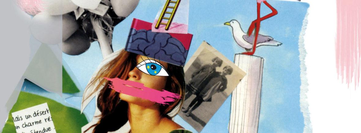 Collage art-thérapie Vision d'étoiles