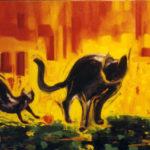 Tableau de chats Martine Perrier-Reiser